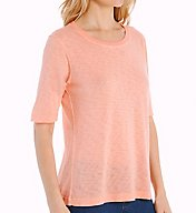 Splendid Slub Elbow Sleeve Crew Neck Tee ST9074