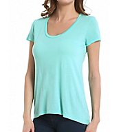 Splendid Very Light Jersey Short Sleeve Scoop Neck Tee TMJ7358