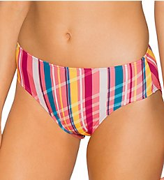 Sunsets Bungalow Stripe Basic Brief Swim Bottom 25BBS