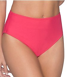 Sunsets Lovers Coral High Waist Brief Swim Bottom 30BLC