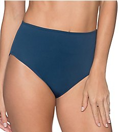 Sunsets Slate The High Road High Waist Brief Swim Bottom 30BSE