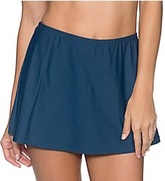 Sunsets Slate Sidekick Skirted Short Swim Bottom 49BSE