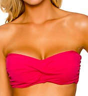 Sunsets Solid Underwire Twist Bandeau Swim Top 55TSS