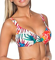 Sunsets Fiji Flora Bardot Underwire Plunge Swim Top 57FIJ