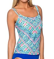 Sunsets Dolce Vita Underwire Scoop Neck Tankini Swim Top 75DOV