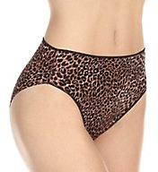 TC Fine Intimates Microfiber Wonderful Edge Hi-Cut Brief Panty A404