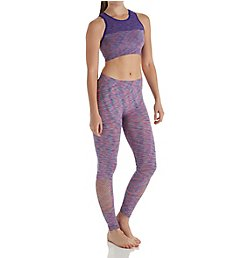 Under Control Mesh Hi-Neck Sports Bra and Legging Athleisure Set CF-70007