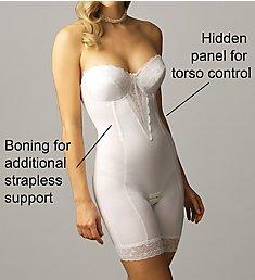 Va Bien Strapless Low Back Long Leg Bodysuit 1294
