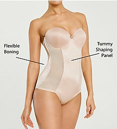 Va Bien Satin Panel Strapless Low Back Bodysuit 1570