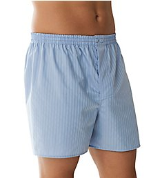 Zimmerli Cotton Woven Shadow Stripe Boxers 8002